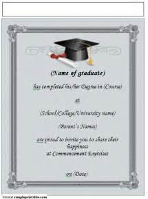 free templates for graduation announcements printable graduation announcement invitation