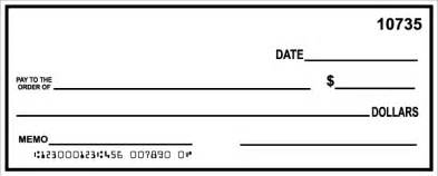Template Of A Check by Check Template