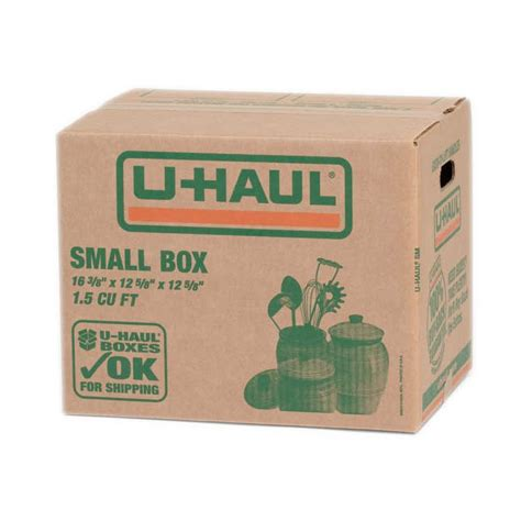 u haul small moving box