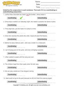 identify conjunctions as coordinating or subordinating
