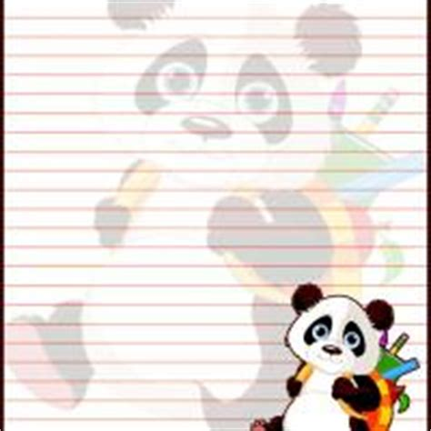 printable panda stationery panda goes to school