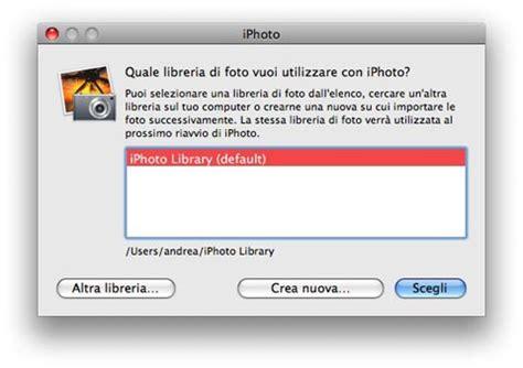 backup libreria iphoto condividere la libreria di iphoto il di shift