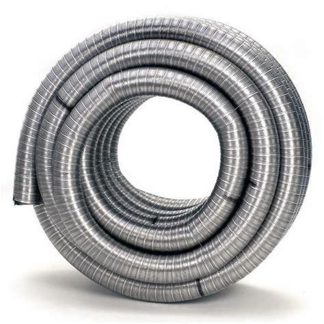 Selang Fleksibel Aluminium 150 mm flexibel rvs dubbelwandig