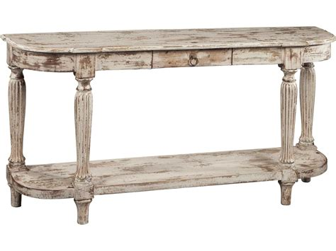 Distressed Console Table With Drawers by Hekman Accents Heavily Distressed Antique White Console