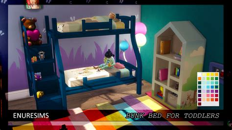 download sims 4 cc bunk beds bunk bed for toddlers enure sims