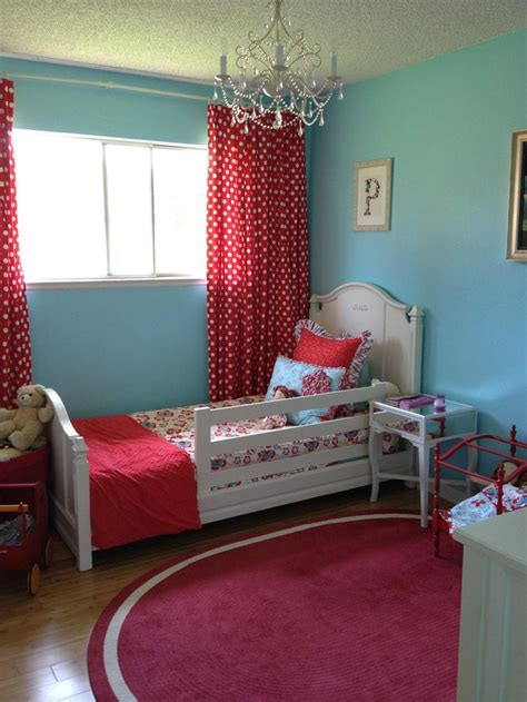 kids red bedroom toddler room pink instead of red for my girl for the