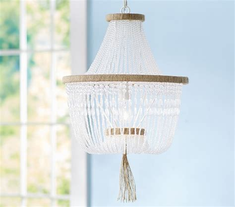 Rissa Crystal Beaded Chandelier Pottery Barn Kids How To Make Beaded Chandelier