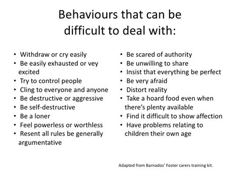 types of challenging behaviours managing challenging behaviours
