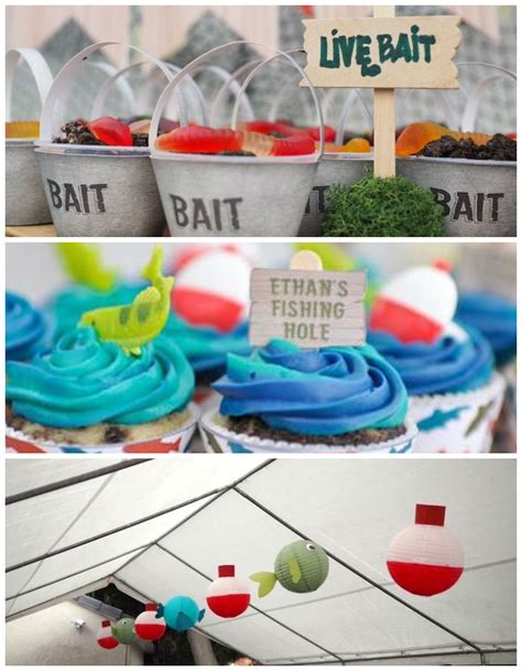 Kara's Party Ideas Colorful Gone Fishing Birthday Party