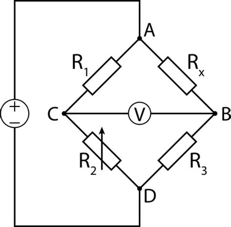 wheatstone bridge theory in file wheatstone bridge svg