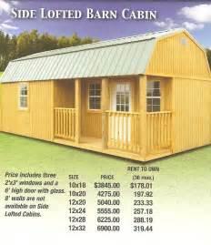 Derksen buildings lofted barn price