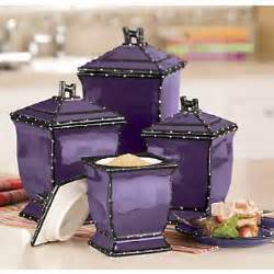 Purple Canister Set Kitchen Purple Kitchen Canister Sets