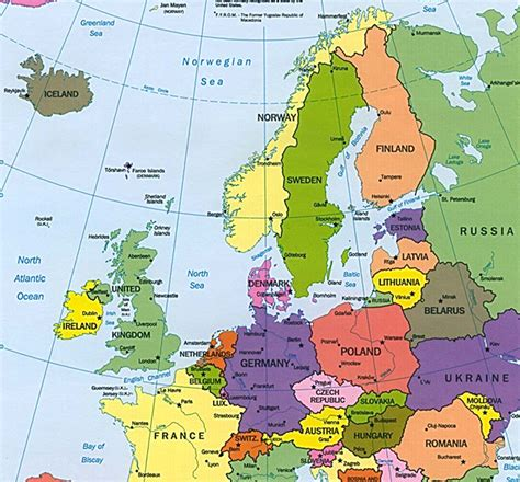 map of northern europe northern europe map