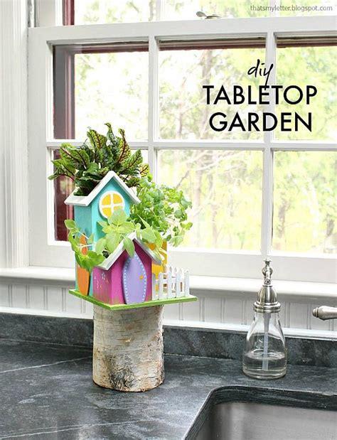 decoart crafts diy tabletop garden