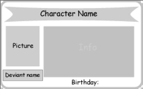 character card template character id card template by paprikadib on deviantart