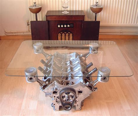 Engine Block Coffee Table Cylinder Coffee Table Page 2 Vintage Mustang Forums