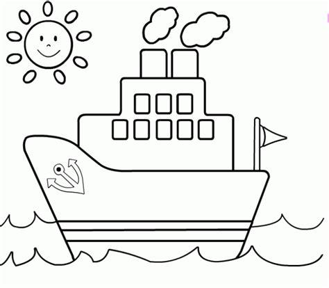 imagenes de barcos para dibujar faciles barco para colorear