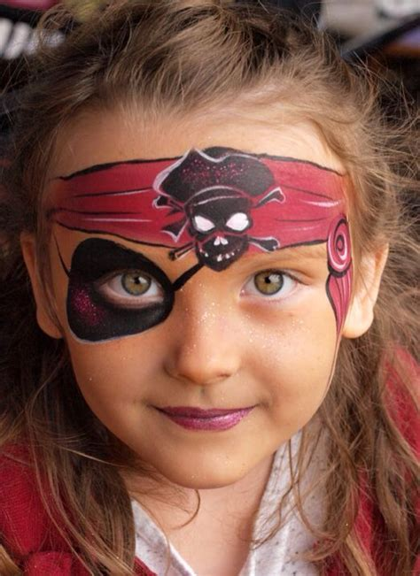 picture of s pirate makeup with a painted headband