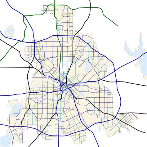 dallas texas traffic map original file svg file nominally 1 000 215 1 000 pixels file size 322 kb