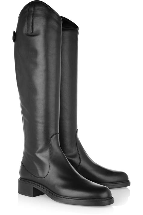black gucci boots for gucci leather knee boots in black lyst