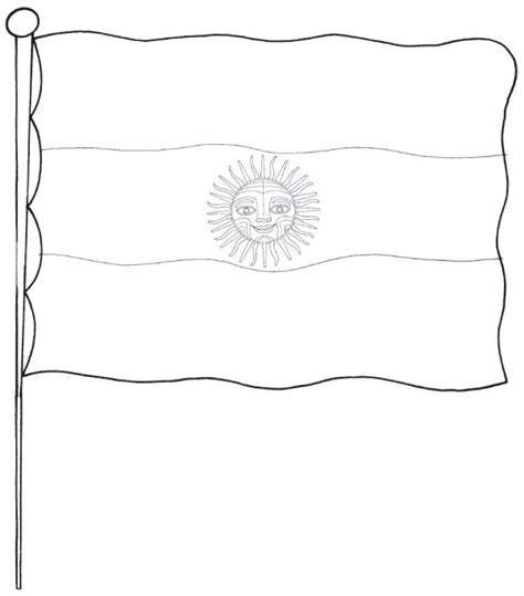 bandera de argentina para colorear para imprimir gratis dibujos para pintar del d 237 a de la bandera nacional