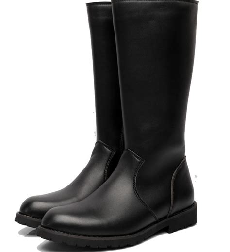 mens black motorcycle riding boots mens leather knee high riding boots boots image