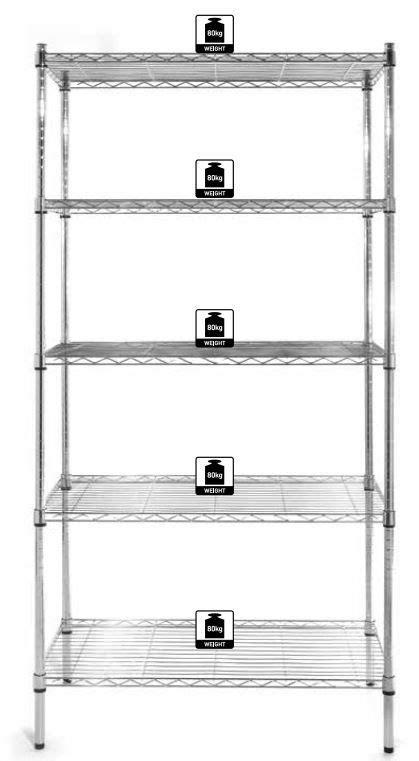 Chrome Storage Rack by Hendi Storage Rack Chrome 5 Shelves 455x910x1840 Mm