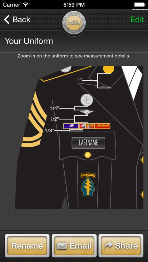 Asu Awards And Decorations Measurements by Iuniform Asu Builds Your Army Service App
