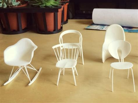 miniature eames rocking chair 70 best 3d miniature furniture for dollhouse images on