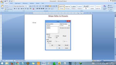 langkah membuat daftar gambar otomatis cara membuat daftar isi otomatis di word rapi tutorial