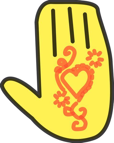 clipart henna hand