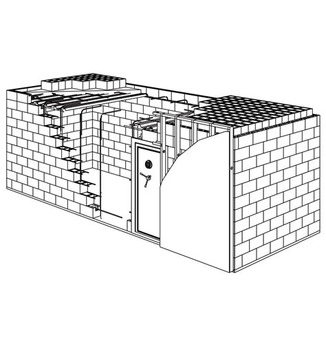 secure house plans the high security shelter