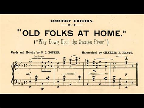 stephen foster song quot suwanee river quot quot folks at home