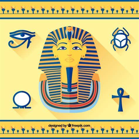 imagenes egipcias tutankamon tutankam 243 n y elementos egipcios descargar vectores gratis