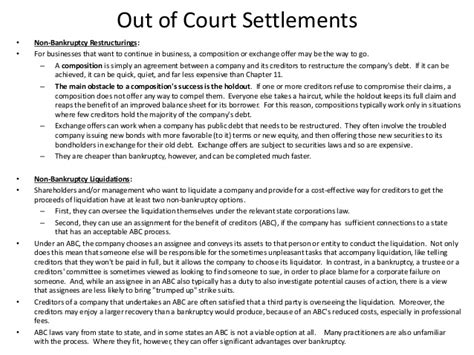 out of court settlement agreement template the practical side of bankruptcy