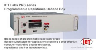 programmable resistor decade box resistance decades ac dc measuring instruments amtest test and measurement