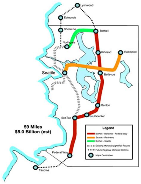 seattle map monorail king county monorail
