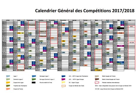 Foot Calendrier Calendrier Foot Ligue 1