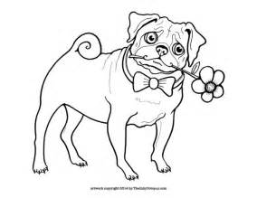 pictures pugs color free coloring pages art coloring pages