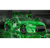 Nissan GTR R35 JDM Anime Girl Aerography City Car 2015
