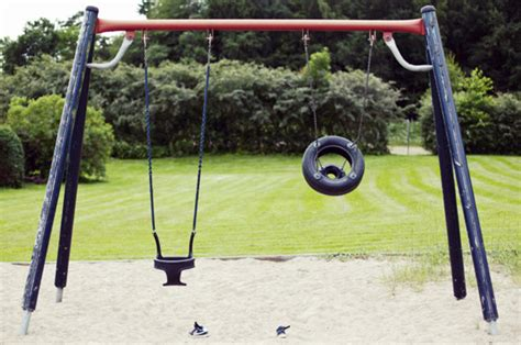 swinging mums mum takes dead son to park and pushes him in swing