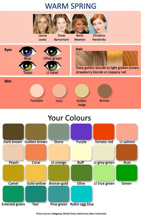 warm autumn color palette best 25 clear spring ideas on pinterest