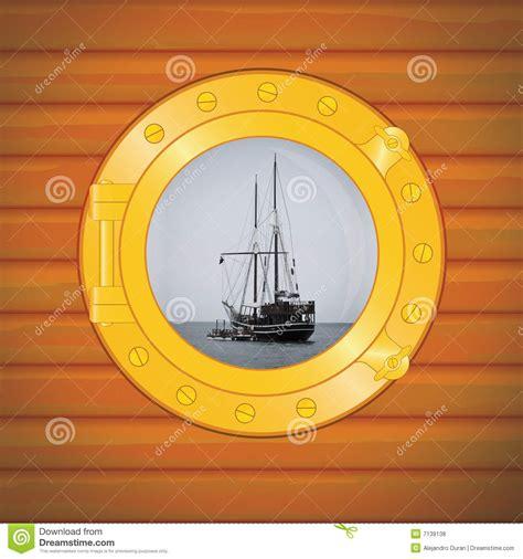 dessin bateau avec hublot bateau de pirate de hublot photos libres de droits image