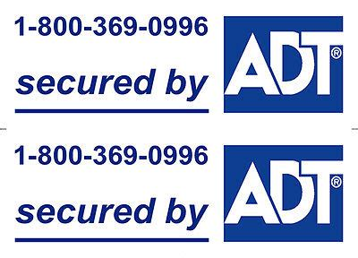 printable security stickers burglar warning surveillance home door window 5 adt