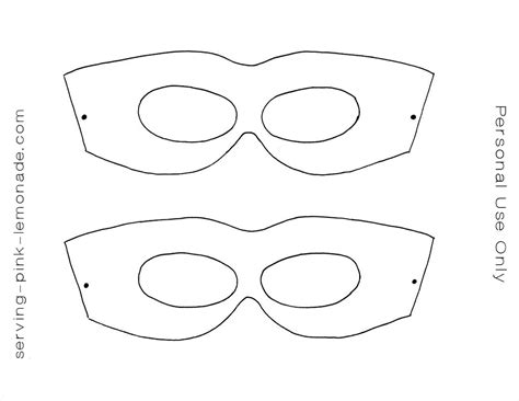 mask templates printable serving pink lemonade free templates