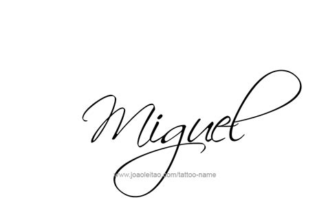 miguel name tattoo designs