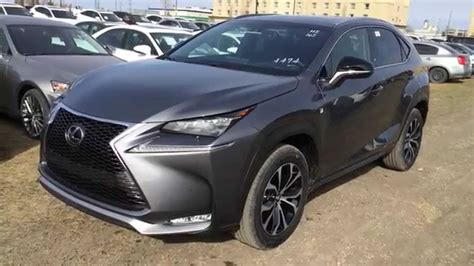 lexus gray grey on black 2015 lexus nx 200t awd f sport series