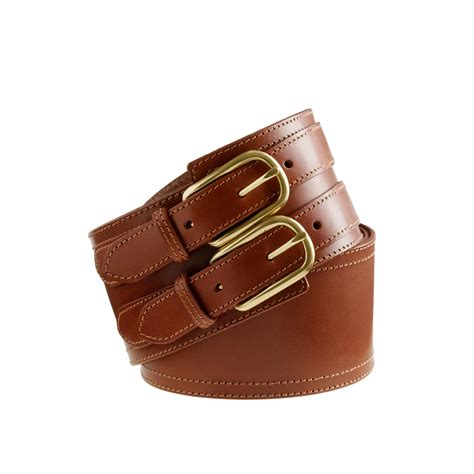 wide leather belt j crew