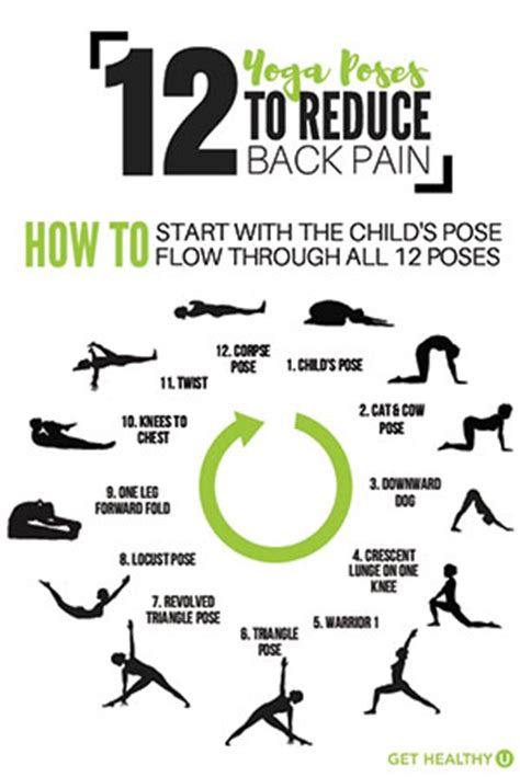 printable yoga poses for back pain 12 yoga poses to alleviate back pain
