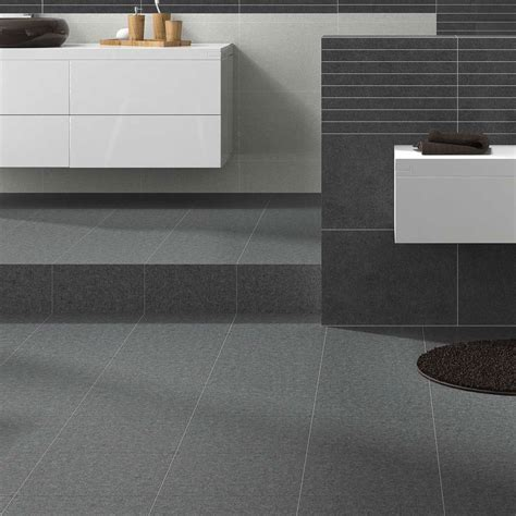 Modern Stylish Ceramic Grey Stone Effect Durable Bathroom Modern Bathroom Floor Tiles